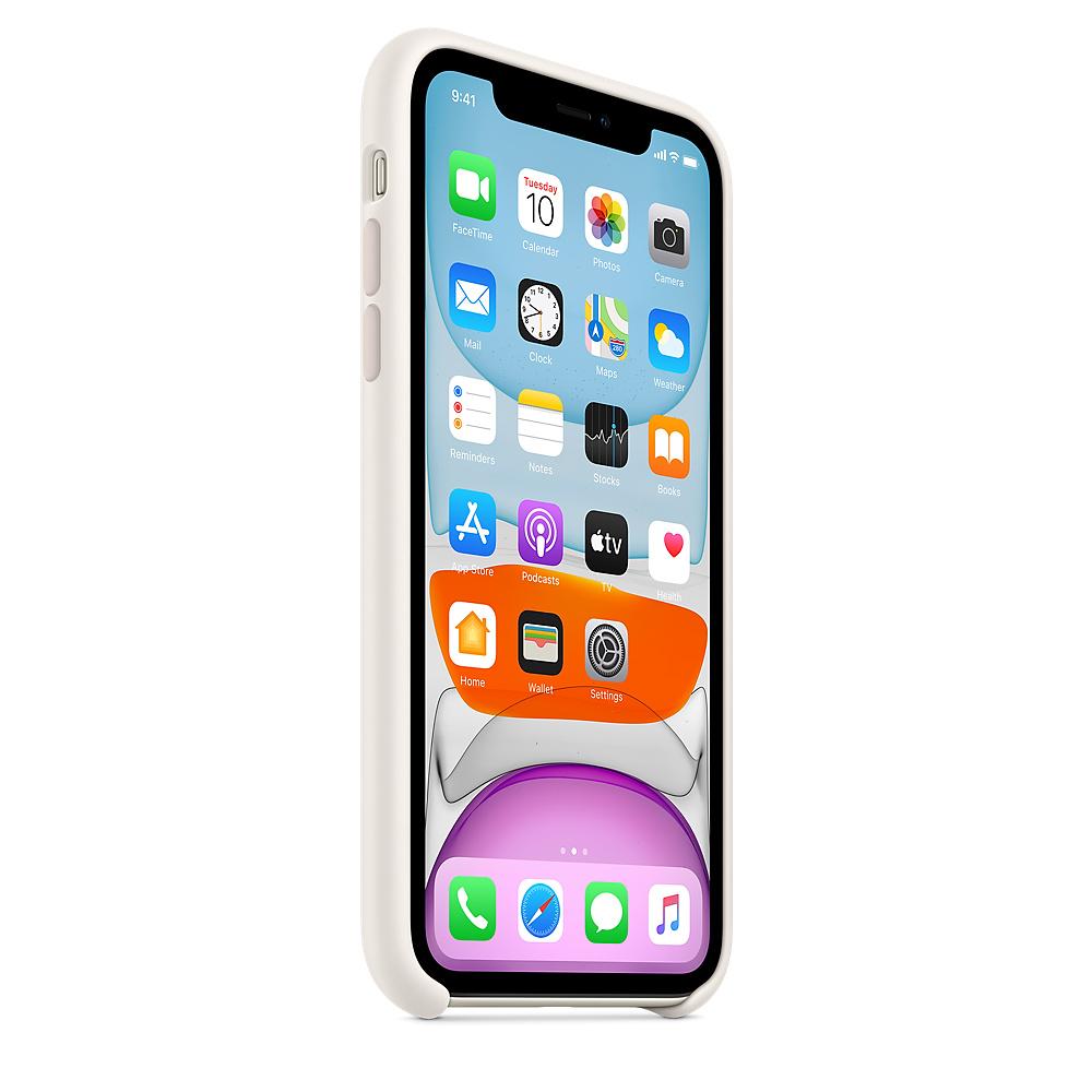 Силиконовый чехол Silicone Case для iPhone 11, Мягкий белый