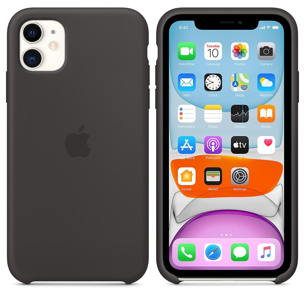 Силиконовый чехол Silicone Case для iPhone 11, Чёрный