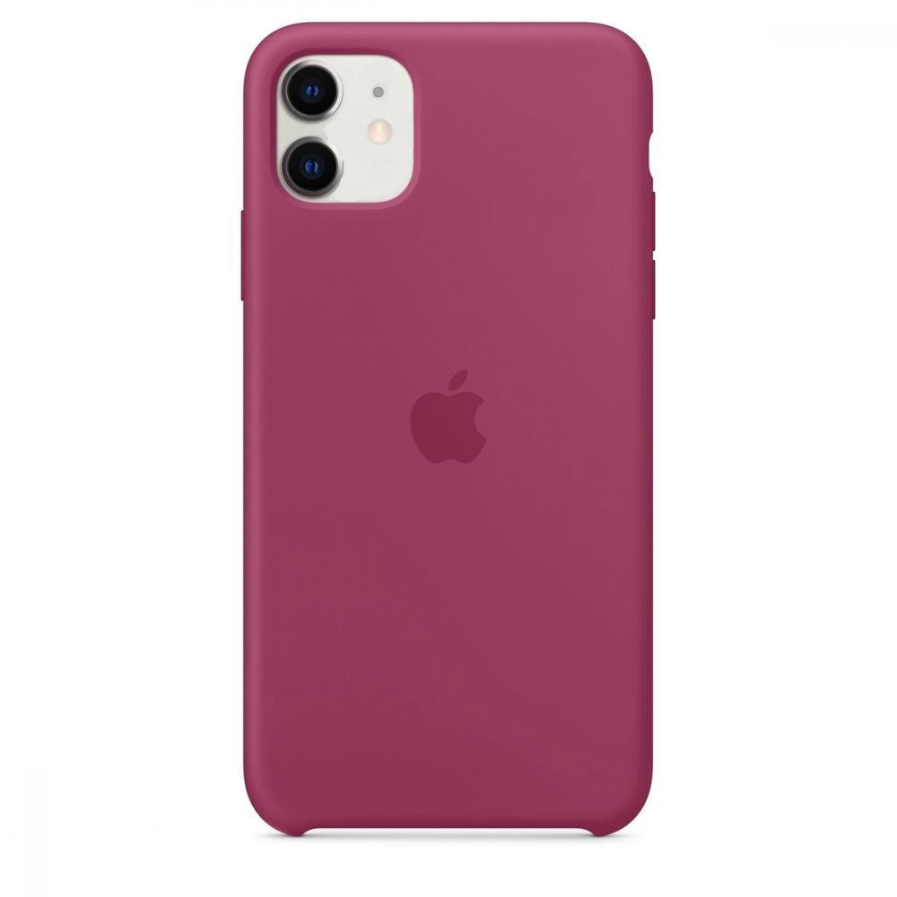 Силиконовый чехол Silicone Case для iPhone 11, Сочный гранат
