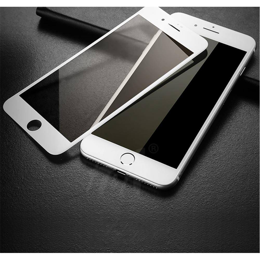 Защитное закаленное стекло 5D на экран для iPhone 8/7 - белое