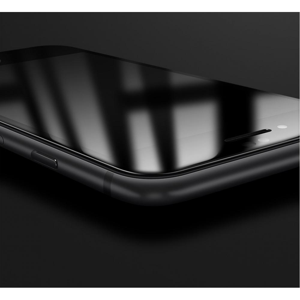 Защитное закаленное  стекло 5D на экран для  iPhone 8/7  - черное