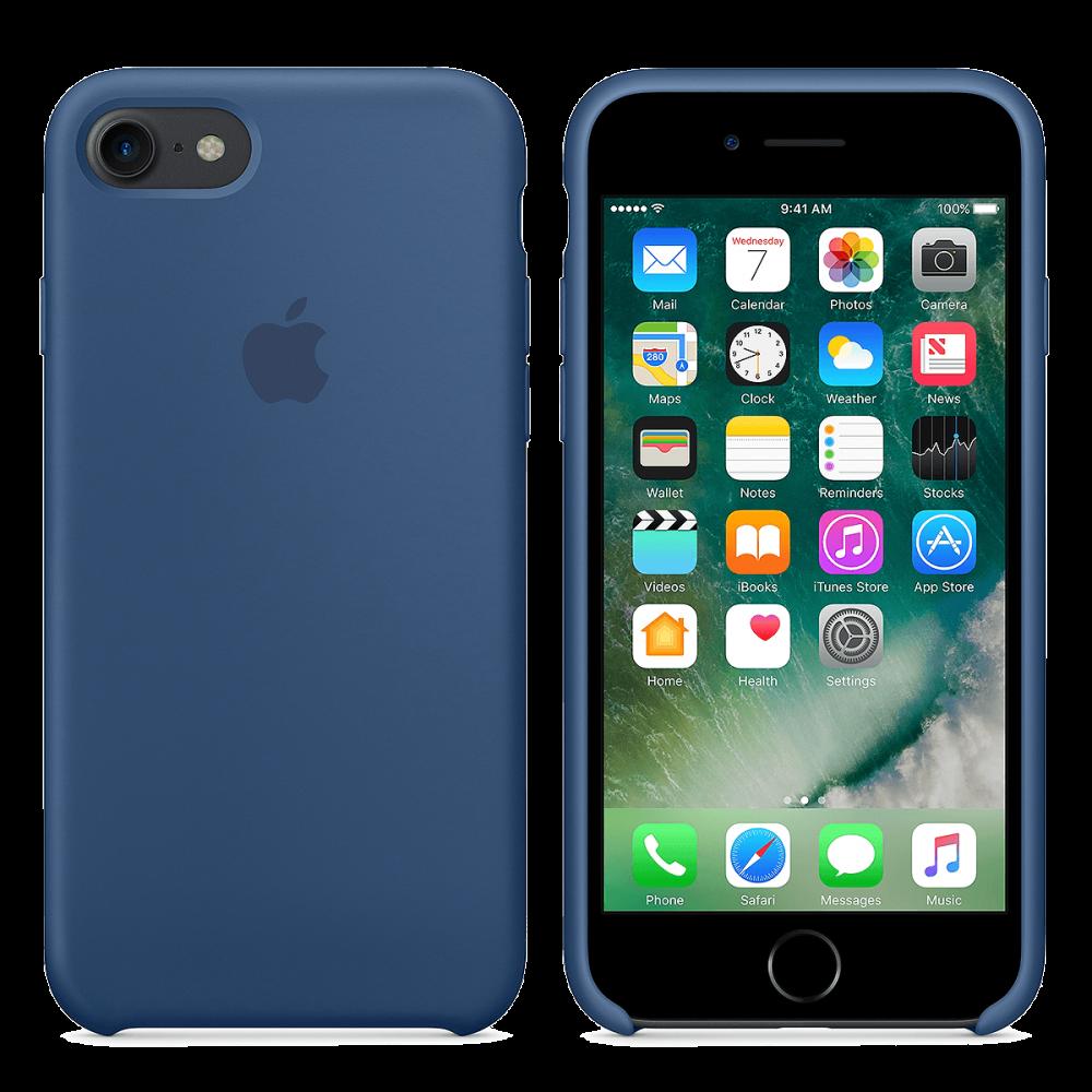 iPhone 8/7 Силиконовый чехол - Темно синий
