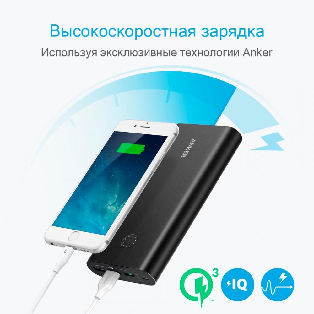 Внешний аккумулятор Anker PowerCore+ 26800 mAh Quick Charge 3.0