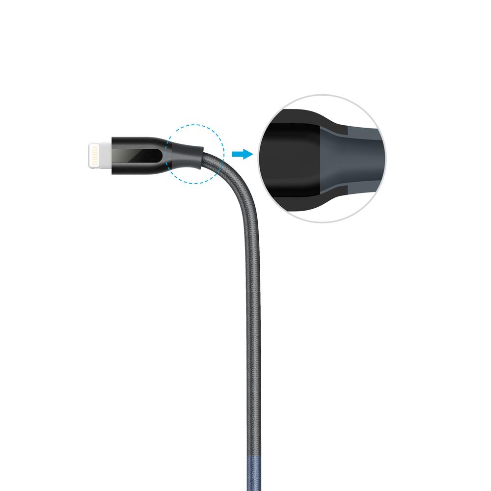 Кабель Anker PowerLine+ Lightning 1.8 м with Pouch Black, A8122