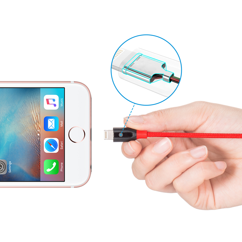 Кабель Anker PowerLine+ Lightning 1.8 м with Pouch Red, A8122