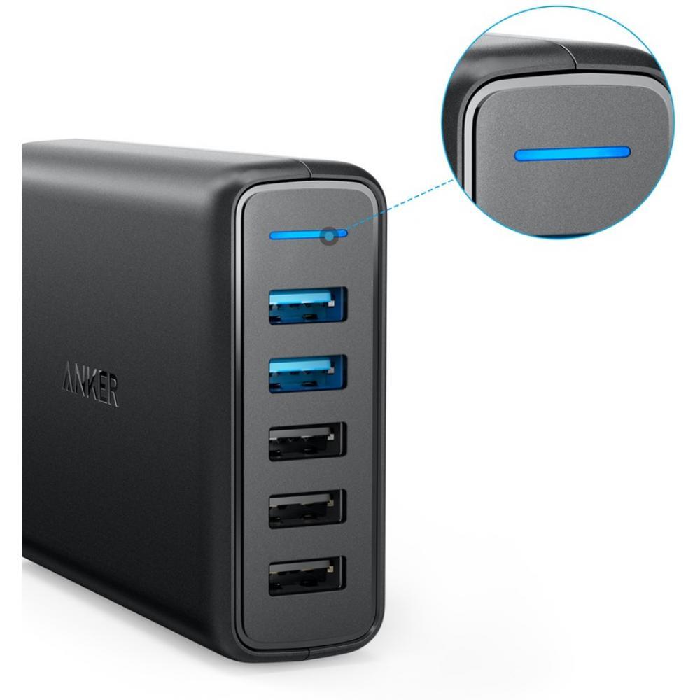 Сетевое зарядное устройство Anker PowerPort+ 5 USB-C Fast Charging Technology, Black