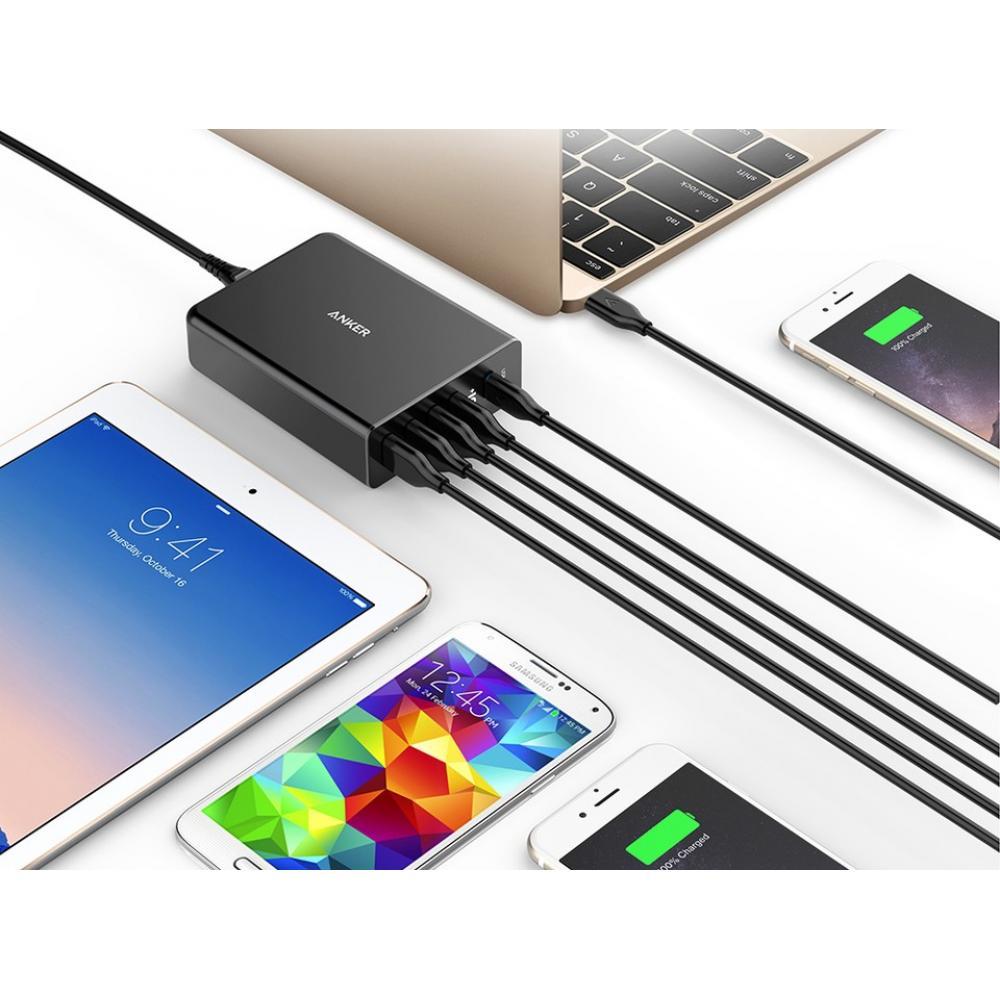 Сетевое зарядное устройство Anker PowerPort+ 5 USB-C Family Charging, Black