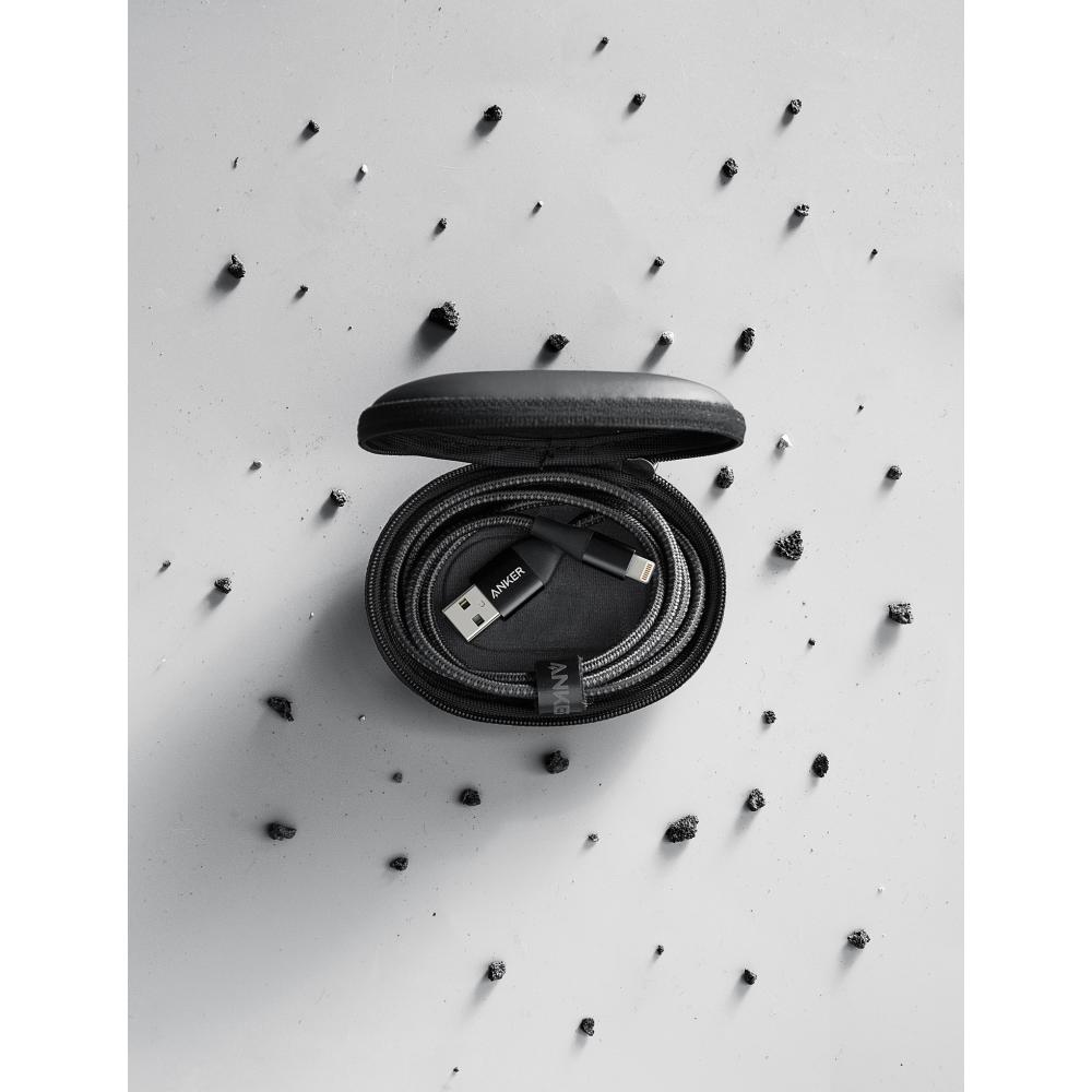 Кабель Anker Powerline+ II lightning 0.9 м Black, A8452