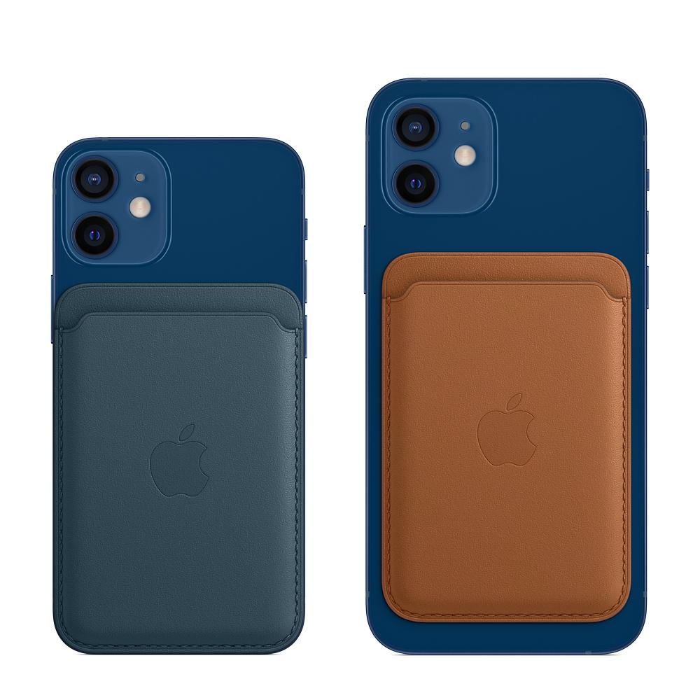 Кожаный чехол-бумажник MagSafe для iPhone, чёрный