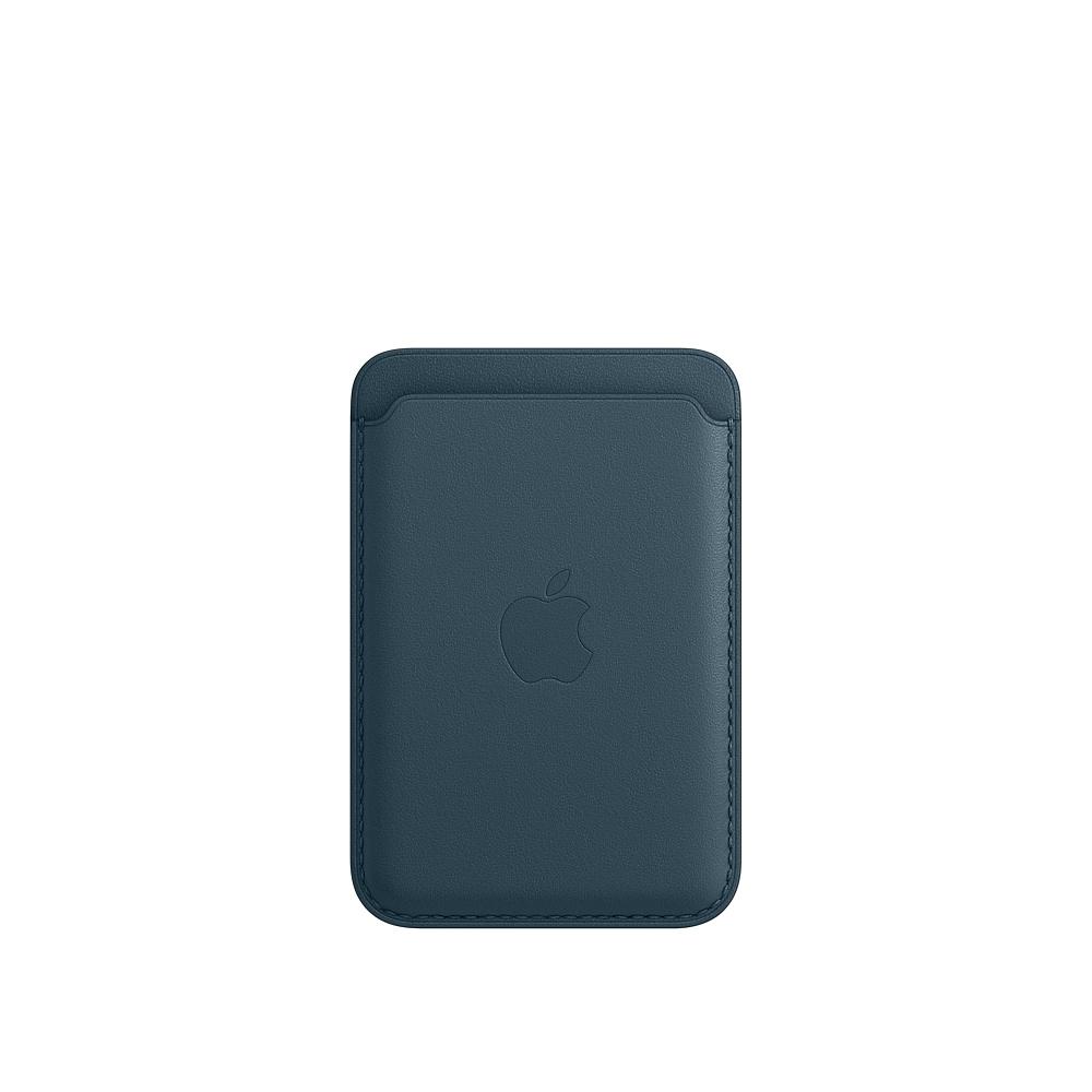 Кожаный чехол-бумажник MagSafe для iPhone, балтийский синий