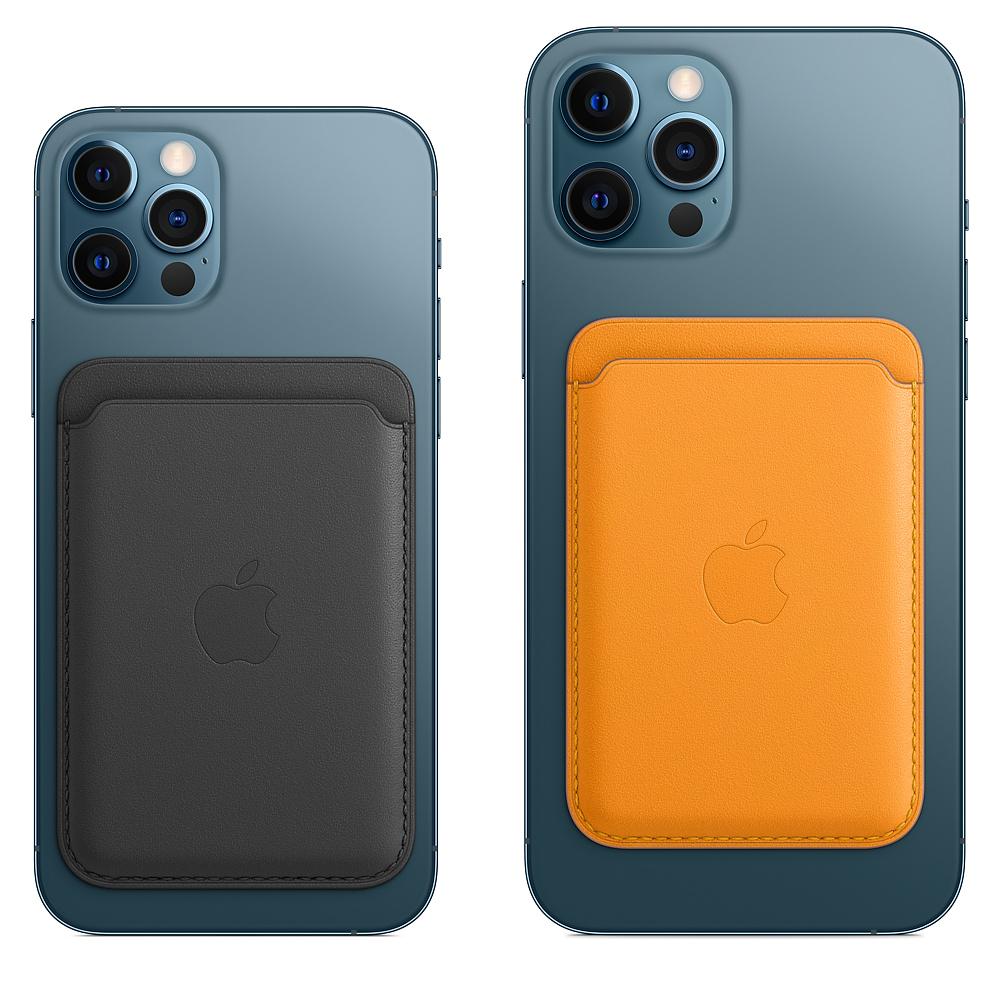 Кожаный чехол-бумажник MagSafe для iPhone, золотой апельсин