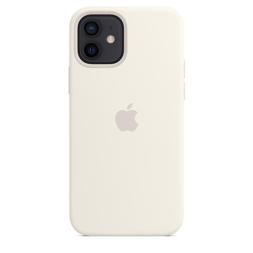 Силиконовый чехол MagSafe для iPhone 12 и iPhone 12 Pro, белый