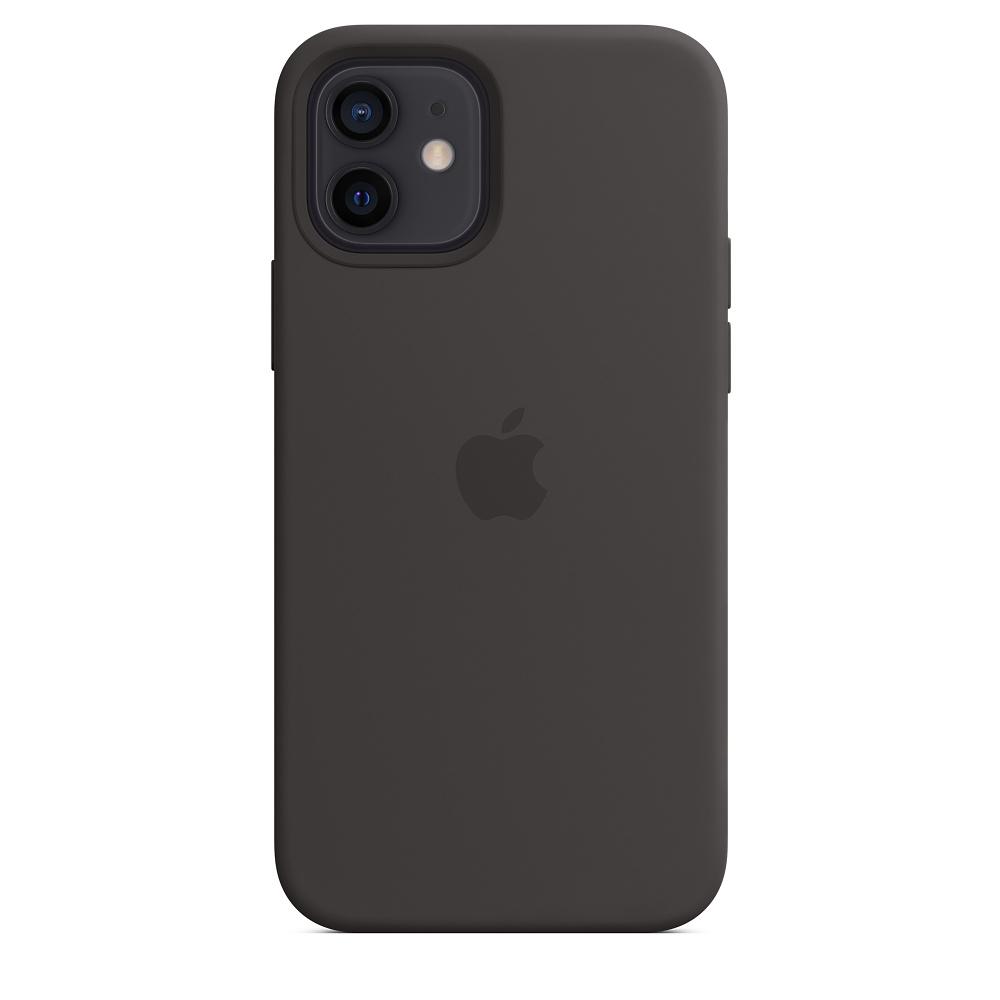 Силиконовый чехол MagSafe для iPhone 12 и iPhone 12 Pro, чёрный
