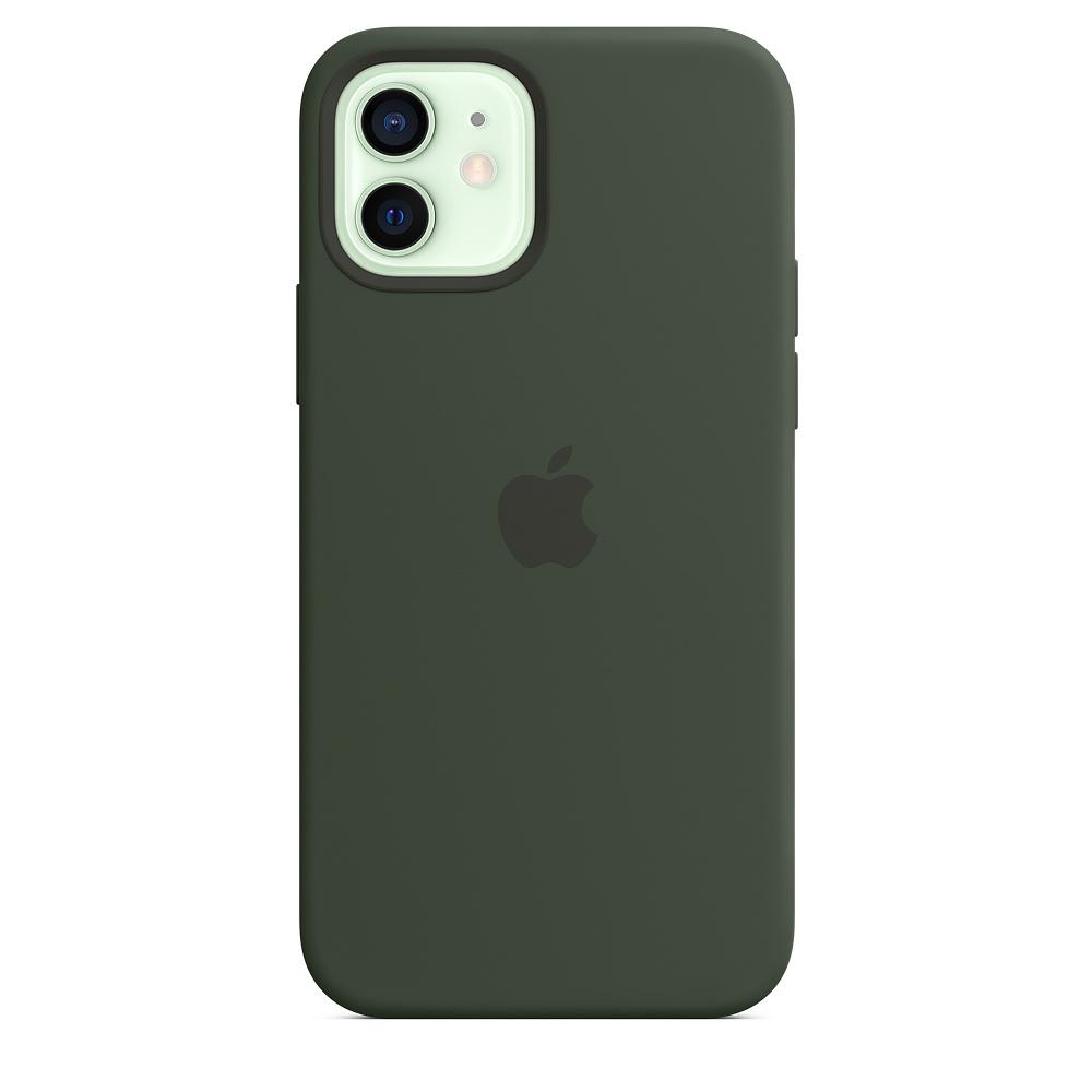Силиконовый чехол MagSafe для iPhone 12 и iPhone 12 Pro, кипрский зелёный