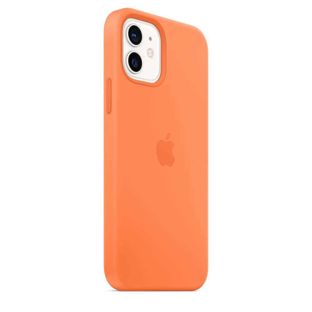 Силиконовый чехол MagSafe для iPhone 12 и iPhone 12 Pro, кумкват
