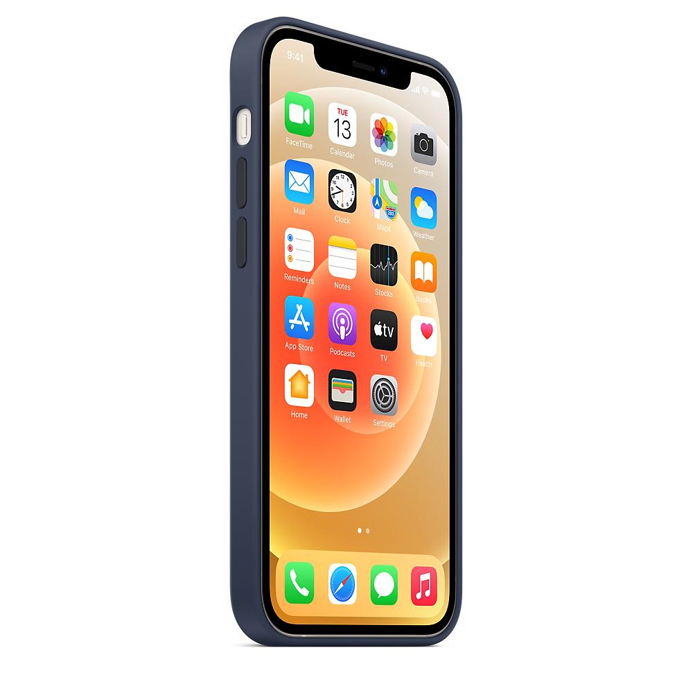 Силиконовый чехол MagSafe для iPhone 12 и iPhone 12 Pro, тёмный ультрамарин