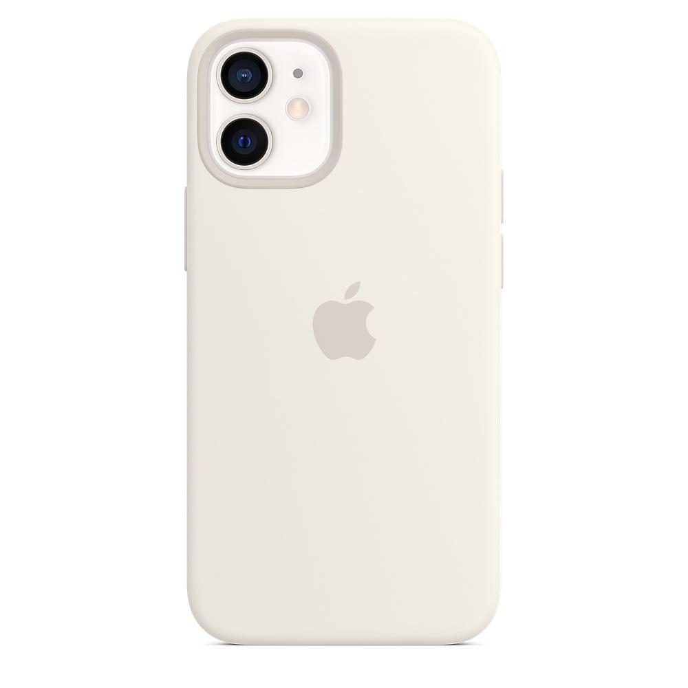 Силиконовый чехол MagSafe для iPhone 12 mini, белый