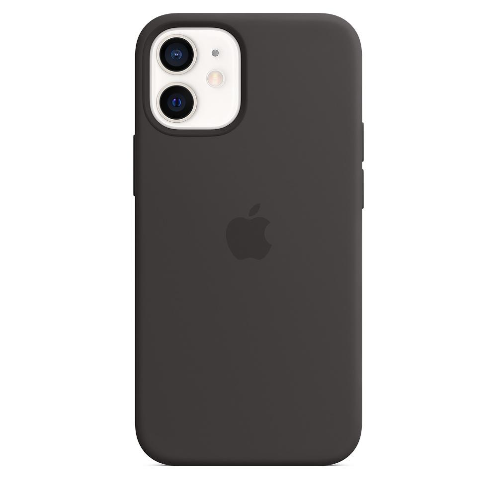 Силиконовый чехол MagSafe для iPhone 12 mini, чёрный