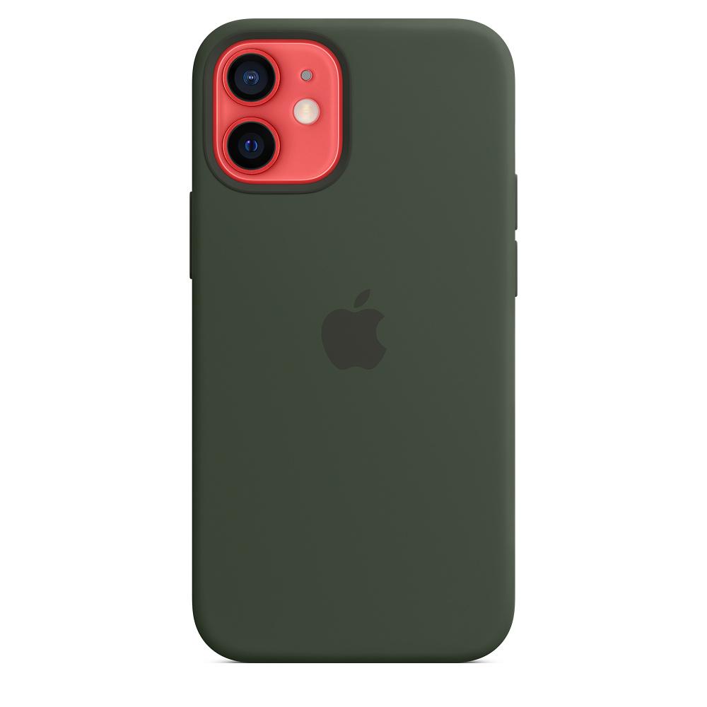 Силиконовый чехол MagSafe для iPhone 12 mini, кипрский зелёный