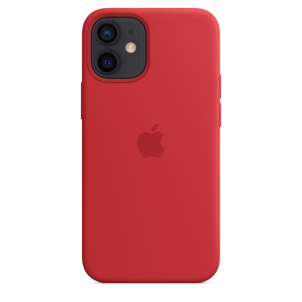 Силиконовый чехол MagSafe для iPhone 12 mini, красный