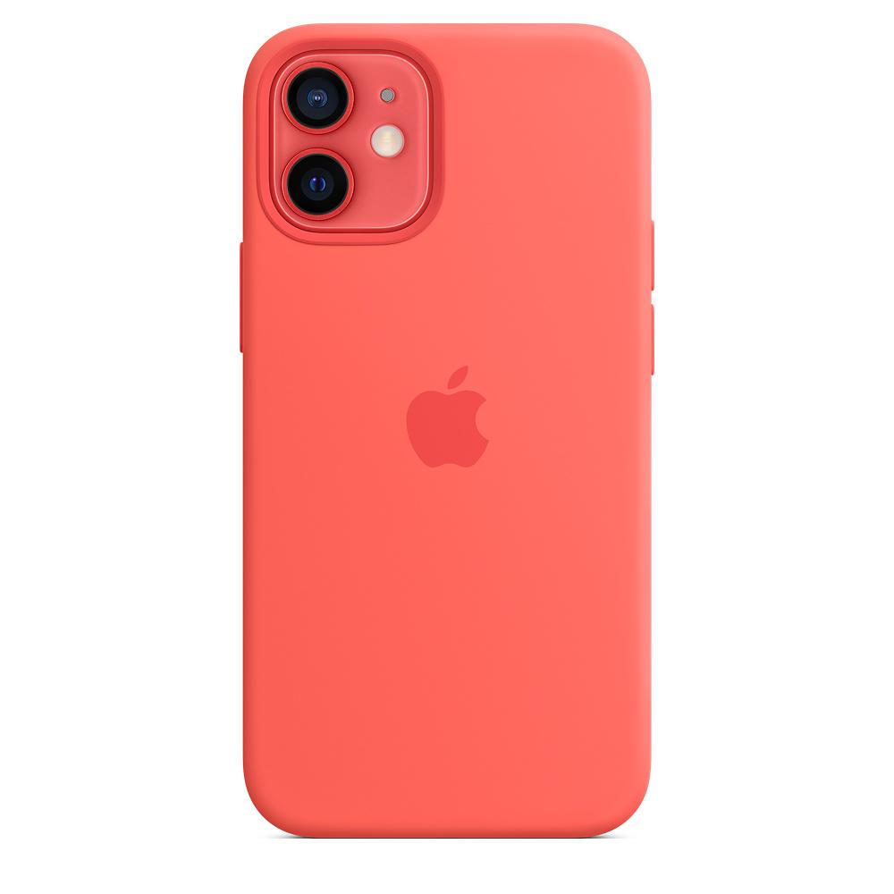 Силиконовый чехол MagSafe для iPhone 12 mini, розовый цитрус