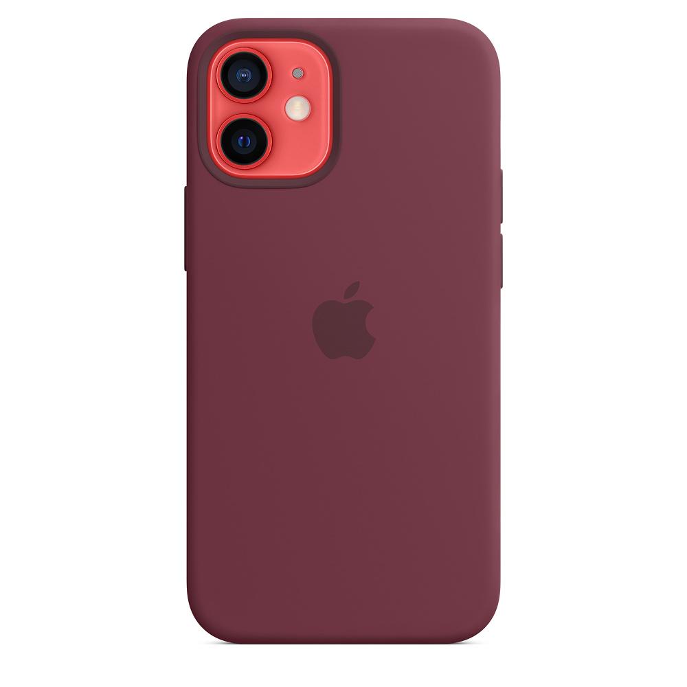 Силиконовый чехол MagSafe для iPhone 12 mini, сливовый