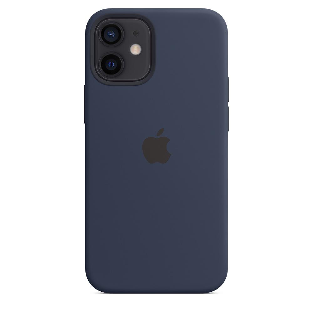Силиконовый чехол MagSafe для iPhone 12 mini, тёмный ультрамарин