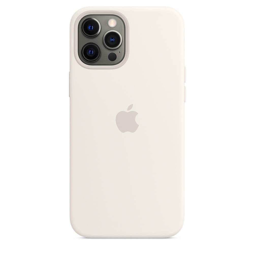 Силиконовый чехол MagSafe для iPhone 12 Pro Max, белый
