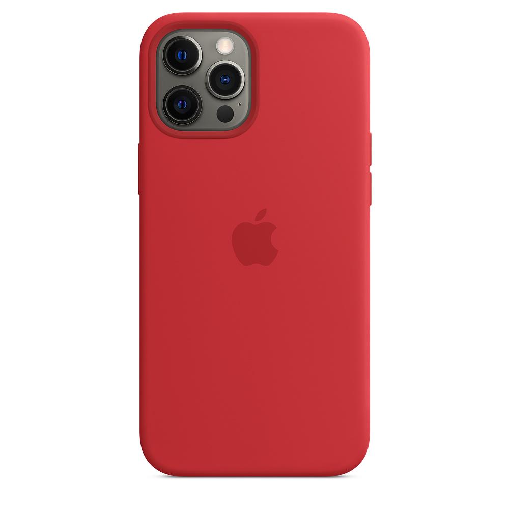 Силиконовый чехол MagSafe для iPhone 12 Pro Max, красный цвет