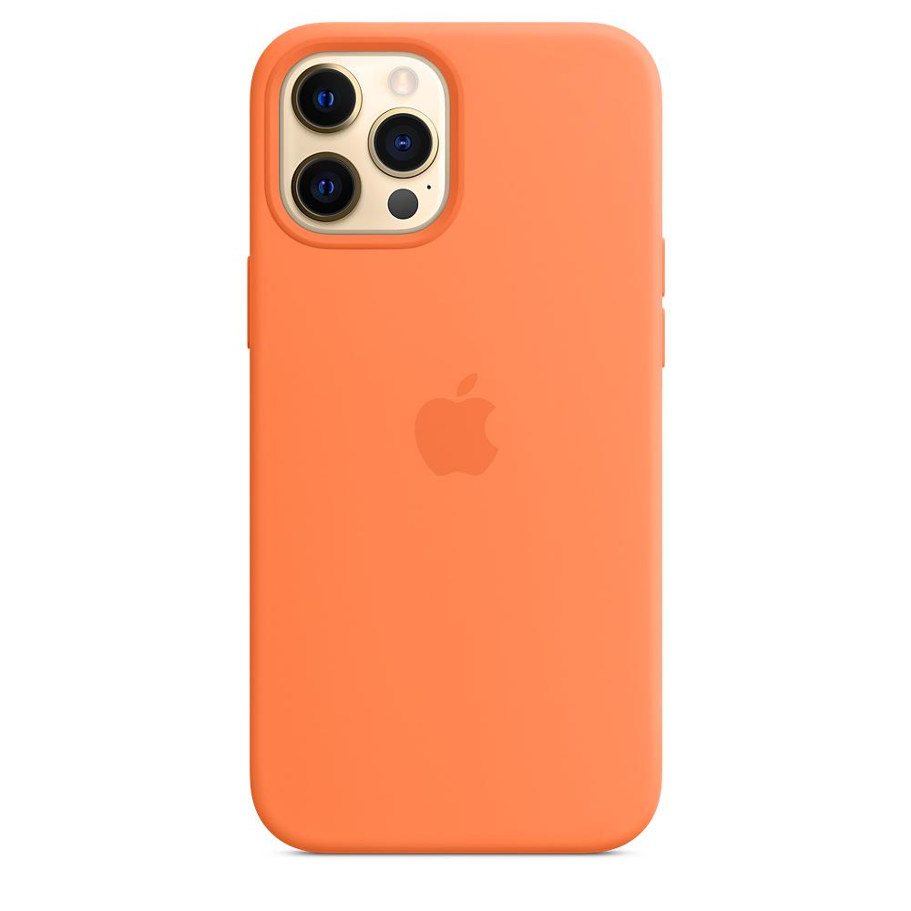 Силиконовый чехол MagSafe для iPhone 12 Pro Max, кумкват