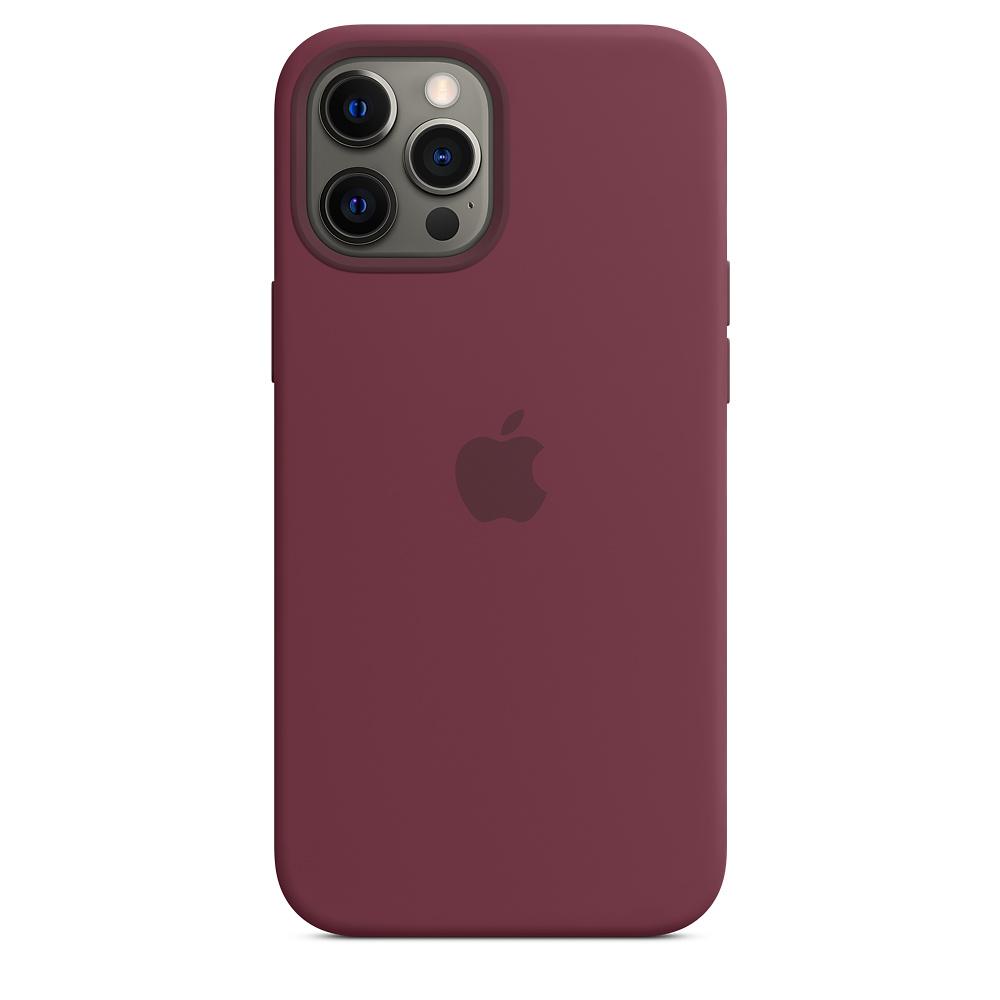 Силиконовый чехол MagSafe для iPhone 12 Pro Max, сливовый
