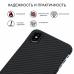 Чехол Pitaka для Apple iPhone XS Max, черно-серый, кевлар (арамид)