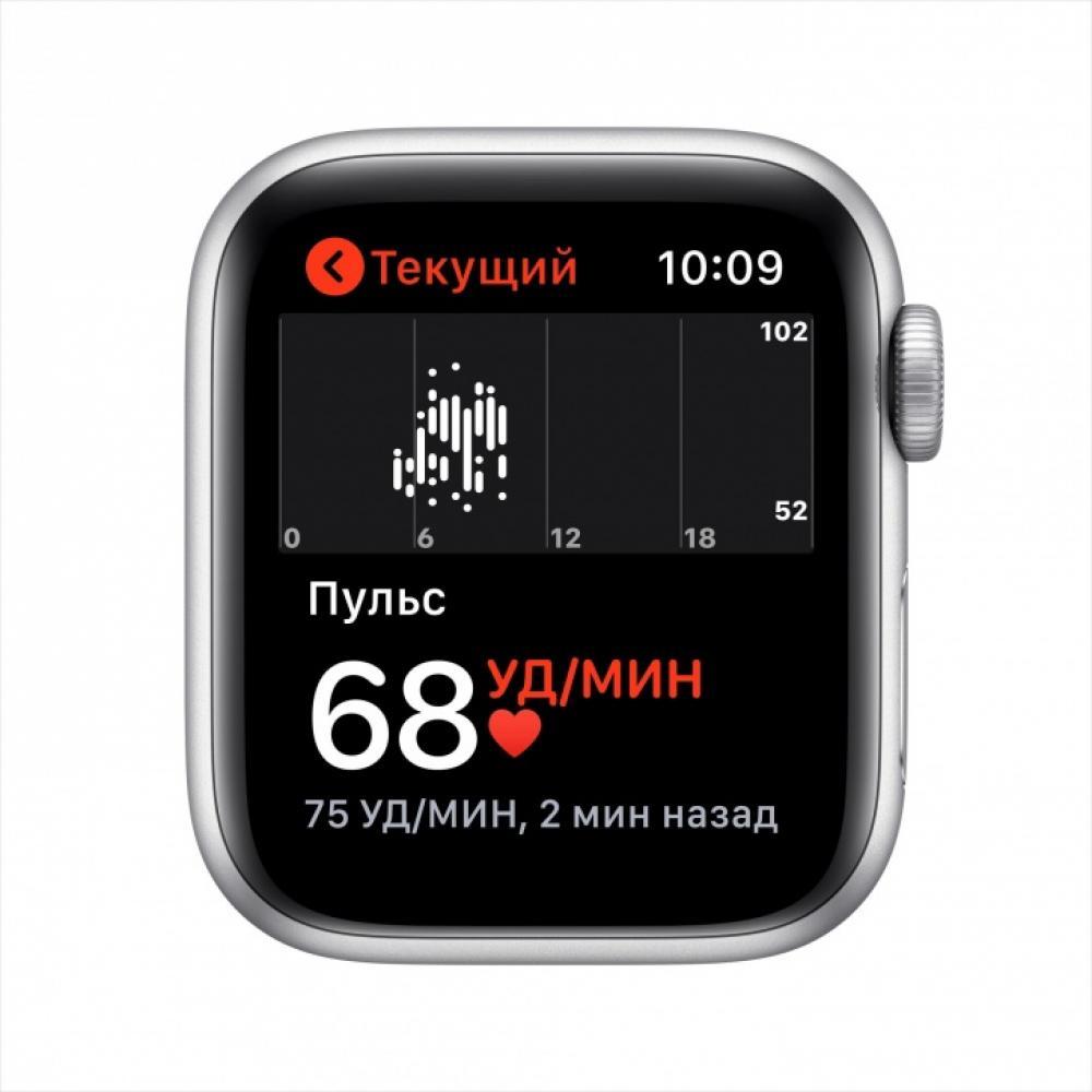 Смарт часы Apple Watch SE, 40 мм, корпус из алюминия серебристого цвета, спортивный ремешок