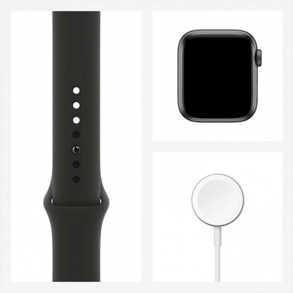 Смарт часы Apple Watch SE, 40 мм, корпус из алюминия цвета серый космос, спортивный ремешок