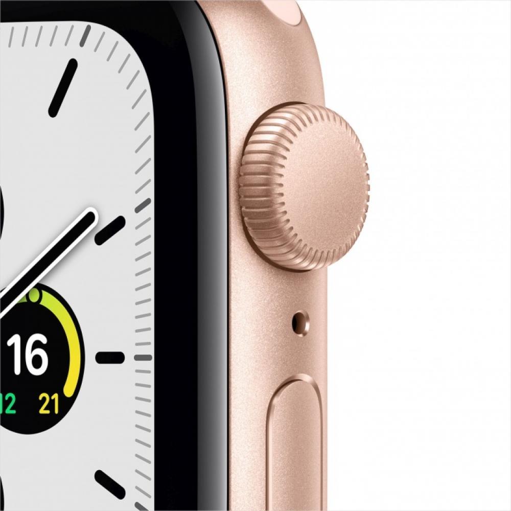 Смарт часы Apple Watch SE, 44 мм, корпус из алюминия золотого цвета, спортивный ремешок