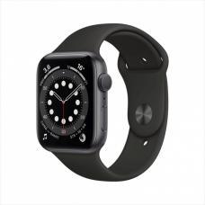 Смарт часы Apple Watch Series 6, 40 мм, корпус из алюминия цвета серый космос, спортивный ремешок
