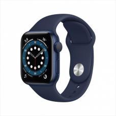 Смарт часы Apple Watch Series 6, 44 мм, корпус из алюминия синего цвета, спортивный ремешок