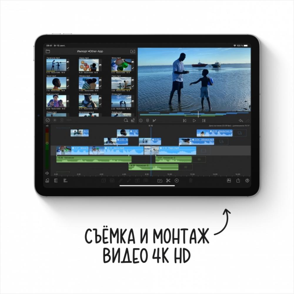 Планшет Apple iPad Air Wi-Fi + Cellular 256Gb 2020 Space Gray